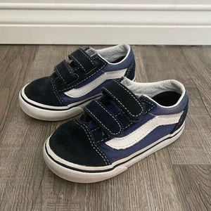 Vans 6.5 Toddler Baby Blue Colorblock Suede Shoes
